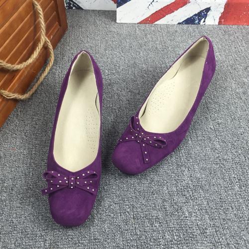 Unique2019 Domuz Derisi Içinde Yay Menekşe Küçük Tek Po Ayakkabılar kadın Tekler Düşük Yardım Ayakkabı Ile Pazen Erişte Kod Olacak