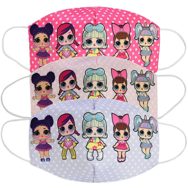 best selling 2020 girl cartoon doll Mask Adult Kids Cosplay Dress Lower Half Face Mouth Muffle Mask Reusable Dust Warm Windproof Cotton Mask zx02