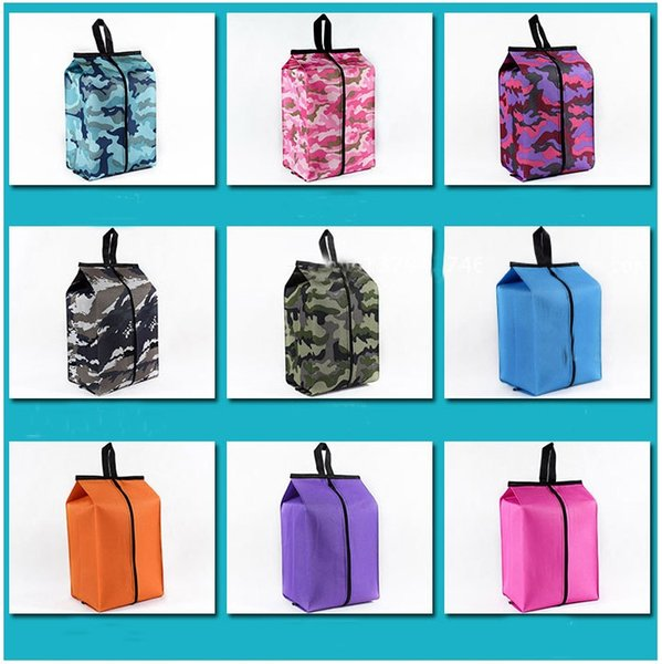 Portable Shoes Bags Cosmetic Bag Camouflage Folding Waterproof Travel Wash Bag Sundries Home Furnishing Oxford cloth Storage Bags FA2019