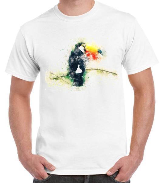 Toucan Bird Animal Design Drawing Men's T Shirt Trump sweat sporter t-shirt hoodie hip hop t-shirt