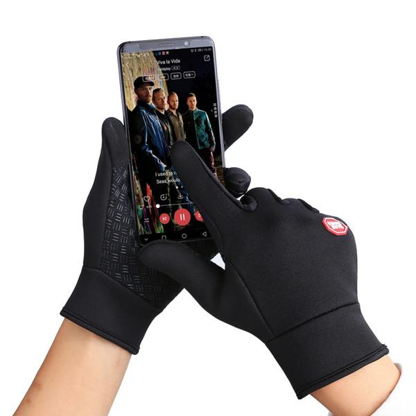 2pcs Warm Waterproof Fleece Men Women Ski Gloves Wind-proof Thermal Touch Screen Outdoor Sport Cycling Snowboard Gloves