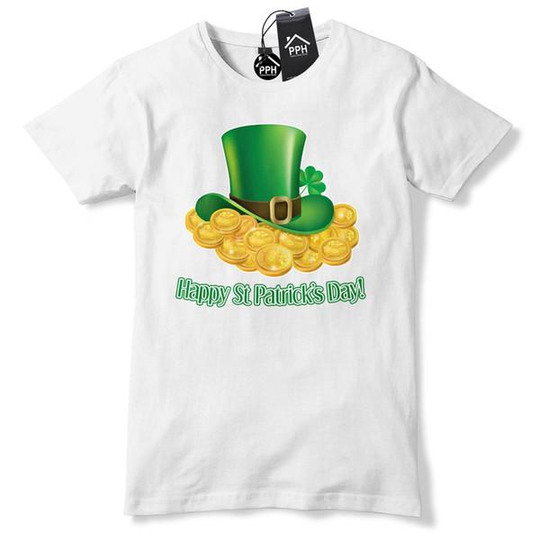 leprechaun Gold Hat St Patricks Day T shirt Mens Irish Ireland Tshirt Rugby P1 Fashion Style Men Tee 2019 fashion t shirt