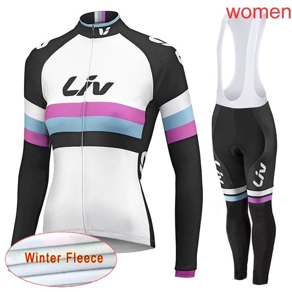 2019 Spring Autumn LIV team Cycling long Sleeves jersey bib pants sets women The New Breathable wear Compressed bicycle jersey Great value60