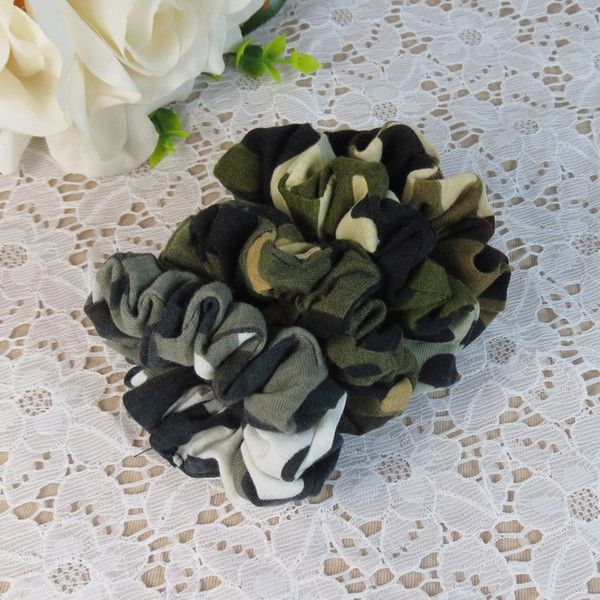 Şapkalar Saç Kamuflaj Şeritler At Kuyruğu Tutucu Saç Kravat Band Kadın Aksesuarları Kumaş Bantları