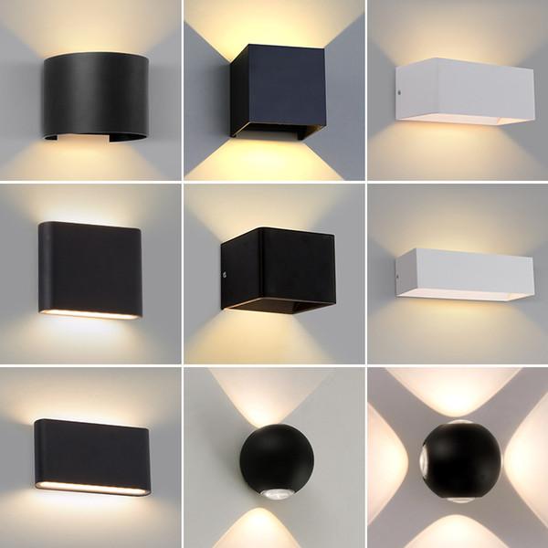 Aluminio Iluminación De De 5W 6W Lámpara Cubo Interior Compre De Aplique Pared Lámpara Decoración Casera Moderna LED Waterproo La Iluminación Del De 76bvfYgy