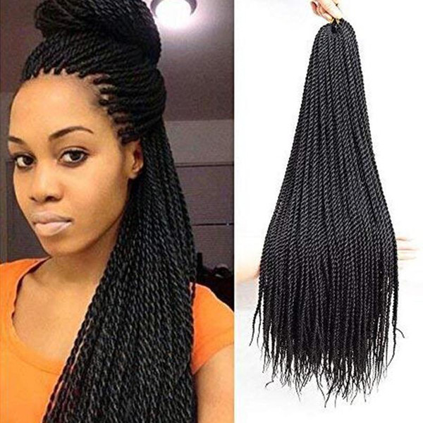 2019 22inch Senegalese Twist Crochet Hair Braids Small Havana Mambo Twist Crochet Braiding Hair Senegalese Twists Hairstyles For Black Women From