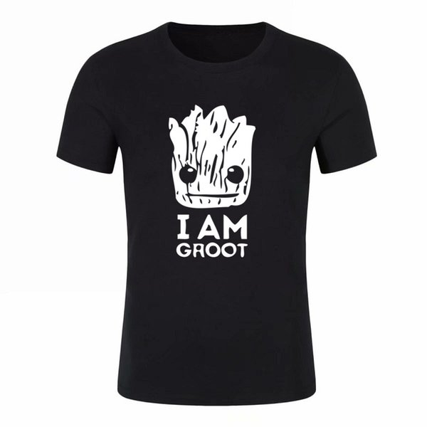 Verano juvenil nuevas camisetas divertidas Galaxy Guard camiseta de hombre Groot Estampado casual camisa de moda de algodón de manga corta camiseta