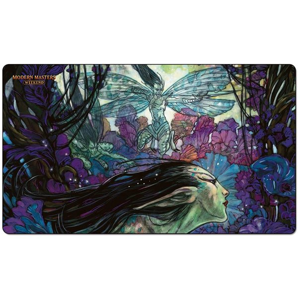 Magic Board Game Playmat:Bitterblossom 60*35cm size Table Mat Mousepad Play Matwitch fantasy occult dark female wizard2Trial o