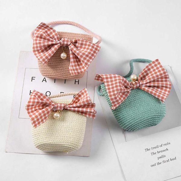 2019 Newly Girls Mini Handbag Handmade Straw Tote Large Capacity Summer Beach Shoulder Bag Party Shopping KA-BEST