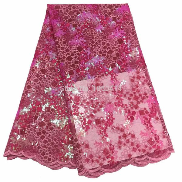 2019 последние сексуальные французские вышитые тюль кружева африка блестки сетка кружевной ткани шитье для ну вечеринку свадебное платье высшего качества 5 ярдов