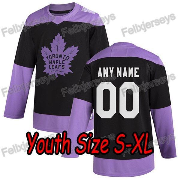 Black Purple Youth: Size S-XL