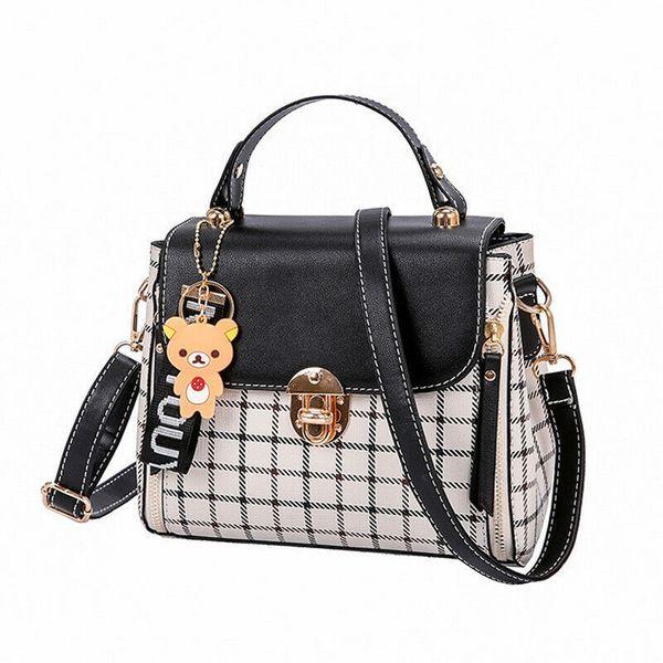 Nice Pop Tide Lady Pu Leather Cross Body Messenger Bag Pop Fashion Trend Mujeres Bolsos de hombro Tote Simple Paild Handbag
