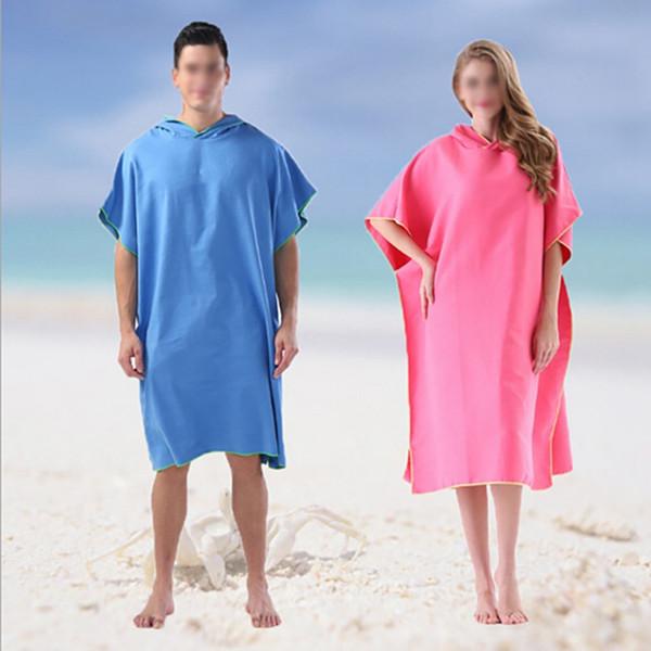 Traje de baño cambiante súper absorbente 2019 Toalla de surf de secado rápido con capucha Traje de baño bata Poncho Talla única Todos