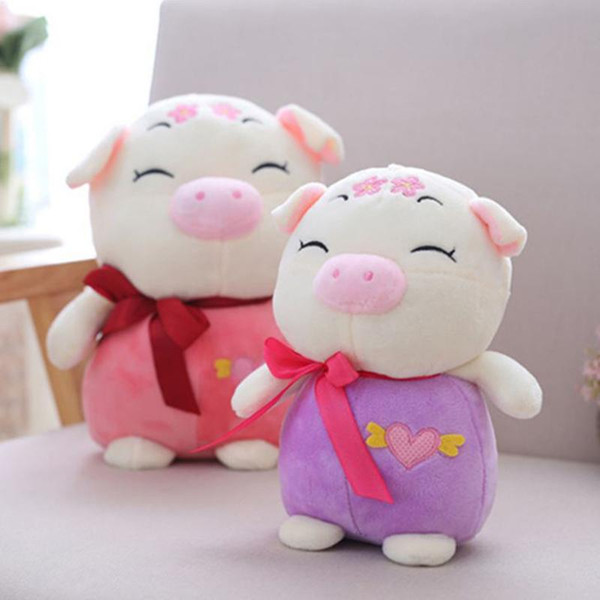 Multi color lovely Mascot of The Year of Pig Plush Doll Cartoon Bow Plum Pig Decor Baby Kid Plush Toy Piggy Stuffed Toy Gift