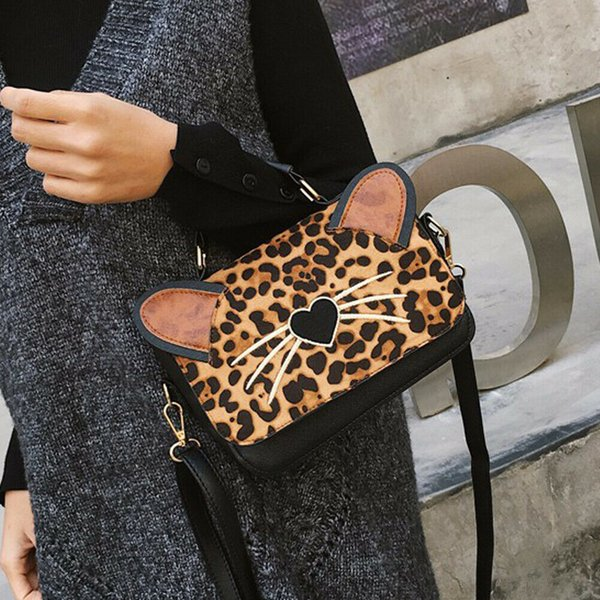 Nice Pop Style Trendy Chains Bag Personalized Handbags Leopard Print Bags Brand Leather Crossbody Bags For Women Messenger Bags