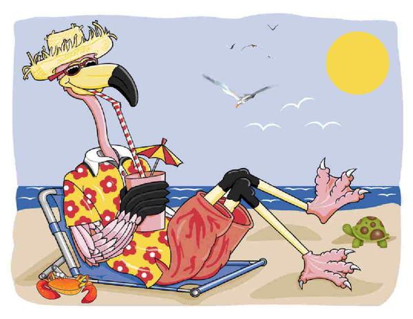 Custom Made T Shirt Funny Whimsical Flamingo Beach Summer Drink Turtle Crab Men Women Unisex Fashion tshirt Free Shipping black