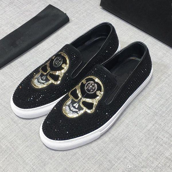 Los mejores zapatos de diseño de lujo para mujer Entrenadores para hombre Zapatos de plataforma de cuero blanco Planos Casual Fiesta Zapatos de boda Gamuza Zapatillas deportivas rd19021806