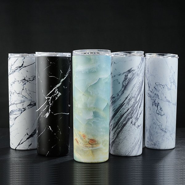20OZ Sippy Cup Straight Cup Paint Transfer Process Professional Flower Film Cold Sports Water Bottle