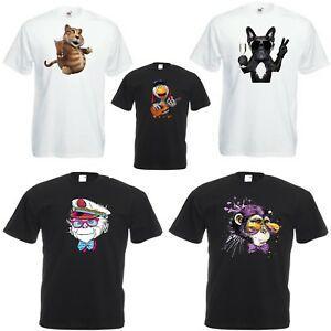 Men Women T Shirt Short SRoShort-Sleeveve Funny Animals Monkey Party Fancy Dress Shirt