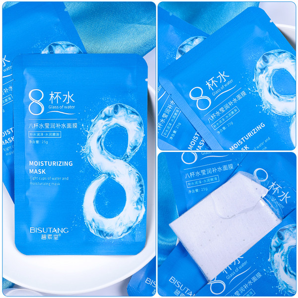 best selling Moisturizing Hydrating 8 Cups of Water Masks anti puffiness and aging Mascarilla delete pouch strengthen firming Black Face Skin Care masks