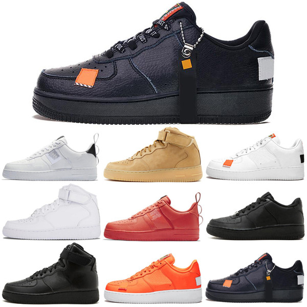 Großhandel Nike Air Force 1 Forces Shoes Laufschuhe 1 Für Männer Frauen Dunk Utility Weiß Schwarz Orange Pink Wheat High Low Herren Sneakers Sport