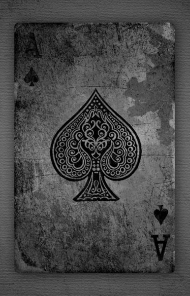 Black and White Vintage Ace of Spades Playing Card wall decor Art Silk Print Poster 95848