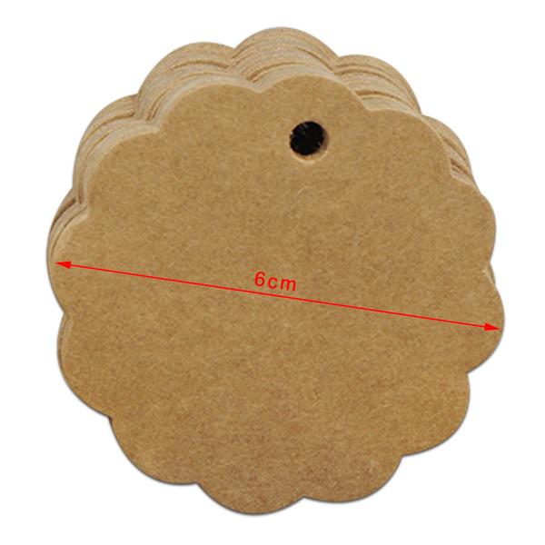 6cm Lace Circle Brown