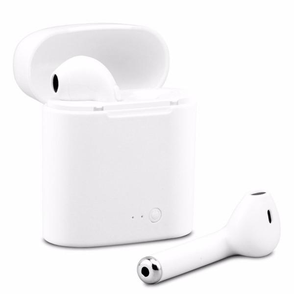 Baixo preço por atacado i7s TWS Mini Sem Fio Bluetooth Fone de Ouvido Estéreo de Ouvido Fone de Ouvido Com Caixa De Carregamento Mic Para Todos Os telefones inteligentes