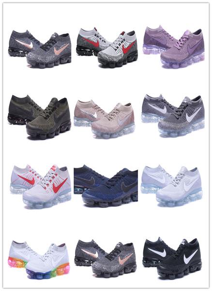 2018 Moc Kadınlar Spor Eğitmenler için spor ayakkabıları Koşu Erkek Laceless Çok renkli Üçlü Beyaz Releasing [kutu ile]vapormax9