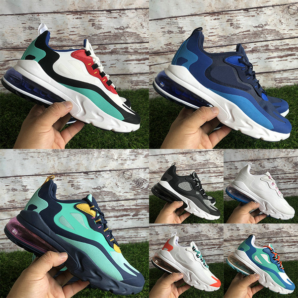 270React Psychedelic Light Beige Chalk Optical 27C React men women running shoes Bauhaus American Modern Blue Void mens trainers sneakers