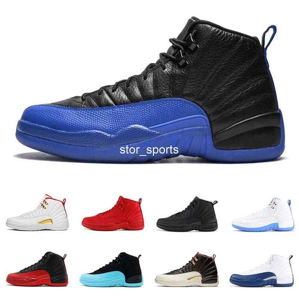 12 12s Basketball shoes for men Game Royal triple black Gym red Flu game GAMMA BLUE the master mens designer Sneakers size 8-13