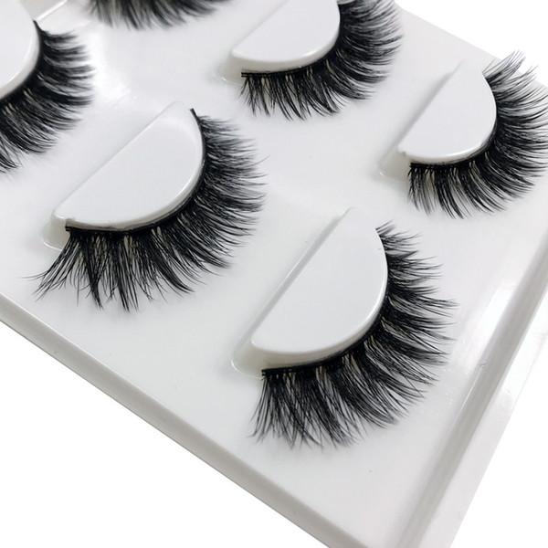 272121e5f15 SHIDISHANGPIN 3 pairs mink eyelashes natural long eyelashes 10mm handmade  false lashes false eyelashes 3d mink
