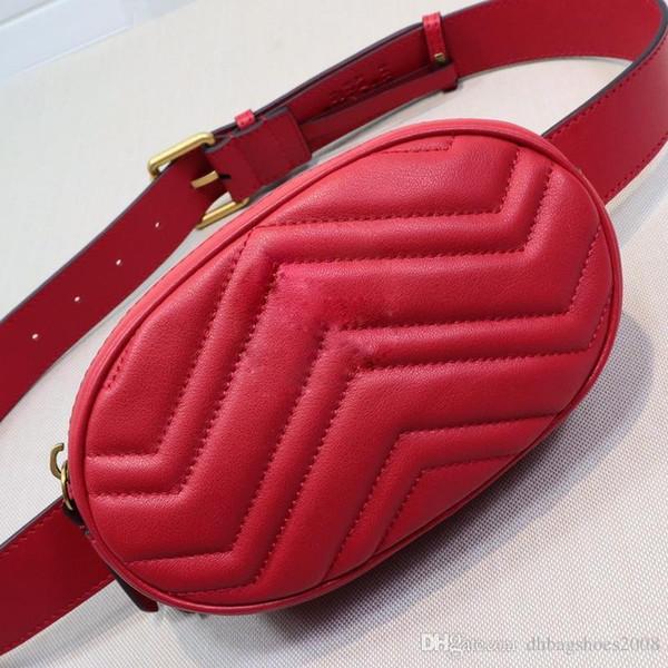 Mini bolsos de cintura de corazones Diseñador de moda bolso de cinturón de mujer bolso de mujer de cuero genuino de alta calidad tamaño 18x11x5cm # 476434