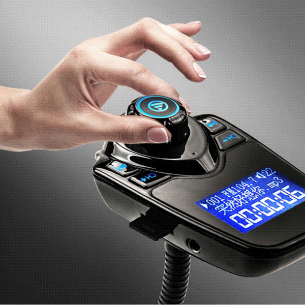 Gakaki Bluetooth Car Kit Hands Free Set FM Transmitter MP3 Music Player 5V 2.1A USB Car Charger AUX Car Auto Speakerphone