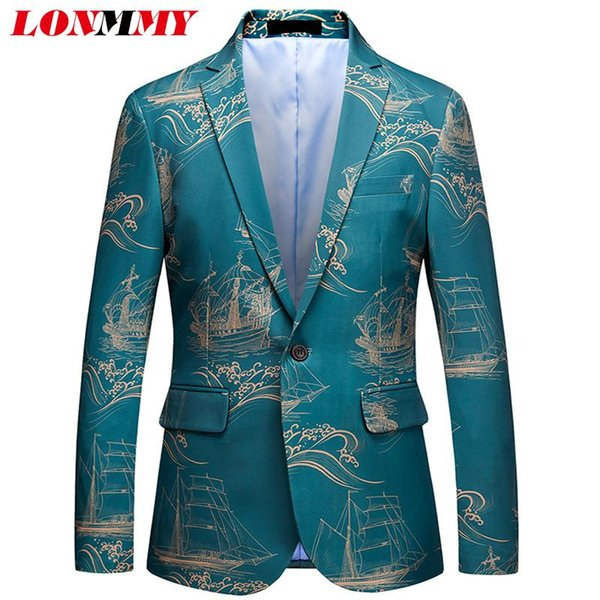 LONMMY 5XL 6XL Костюмы мужские 2018 ternos vetement homme Свадебный блейзер мужского пола slim fit Мужская куртка-пиджак мужские костюмы дизайнеры