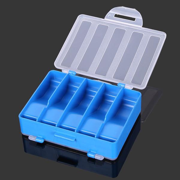 10 Slots 10 Grid Fishhook Storage Box Fishing Lure Organizer Plastic Double Sided Explosion Fishhooks Holder Transparent Lid