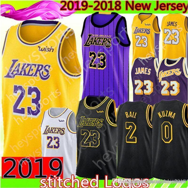timeless design 94392 9ec2a 2019 2019 New Los Angeles 23 LeBron James Lakers Jersey Mens 2 Lonzo # Ball  0 Kyle # Kuzma 14 Brandon # Ingram Basketball Jerseys Black City From ...
