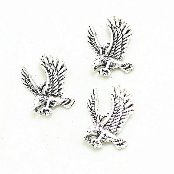 Süße Glocke 200Pcs 18 * 25mm Weinlese-antike silberne Eagles-Charme-hängende Schmucksache-Entdeckungen 3B361