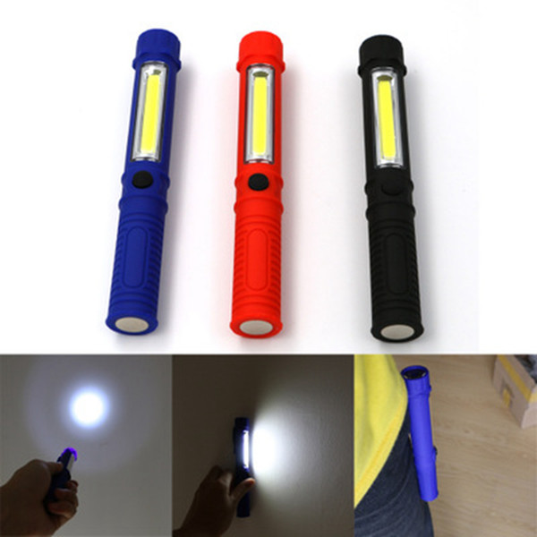 top popular COB LED Work Light Repair Mini Flashlight with Magnetic Base and Clip Multifunction Maintenance Torch lamp for Camping ZZA1145 -2 2021