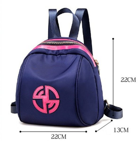Luxury Designer Backpacks Women Fashion Mini Shoulder Backpack Ladies Bag Nylon Cloth Collision Color Strip Shoulder Pure Color New Arrival