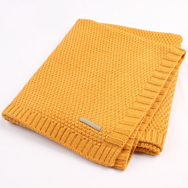 Soft Newborn Baby Blanket Infant Cotton Knitted Crochet Blankets Swaddle Crib Bedding for Boys Girls Kids Blanket Swaddle Wrap