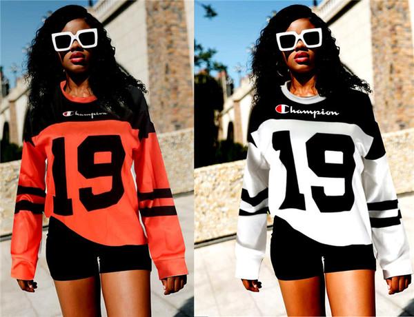 Champion 19 Lettre Imprimé Designer Casual T-Shirt Femme Sweats à capuche Fashion Pull à capuche Automne Printemps Pullovers Tops S-2XL C91603