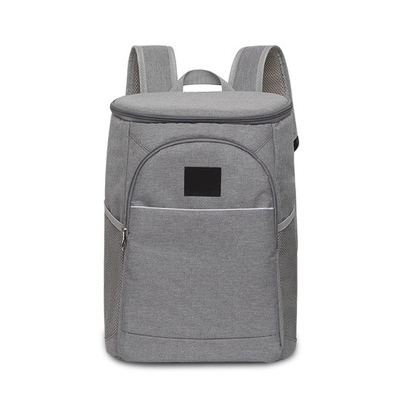 18L Zipper Insulated Ice Pack Oxford Fabric Large Capacity Unisex Wine Cooler Hand Bag Lunch Tote Picnic Storage Backpack