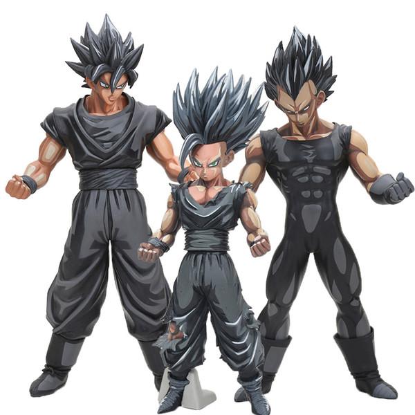 26cm Dragon Ball Z Super Saiyan Son Goku Vegeta Gohan Msp Master Stars Piece Goku Black Chocolate Pvc Action Figure Toy