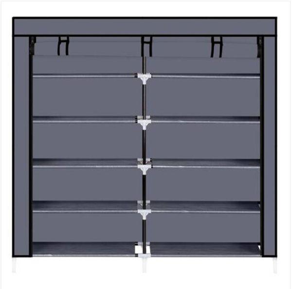 Gabinetto portatile dell'organizzatore di stoccaggio della scarpa del tessuto della copertura del tessuto dell'armadio del rack di 7 livelli
