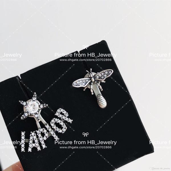 Avoir des timbres de marque de mode lettre abeille designer boucles d'oreilles pour dame Design femmes parti amoureux de mariage cadeau bijoux de luxe pour la mariée avec boîte