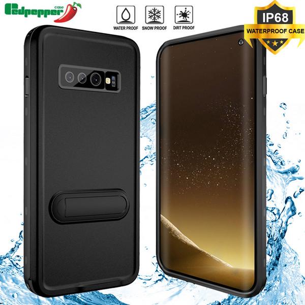 Cas Pour Samsung Galaxy S10 Coque Natation IP68 Étanche 360 Degrés Couverture Totale Kickstand Pour Samsung S10 Plus Téléphone Cas Coque