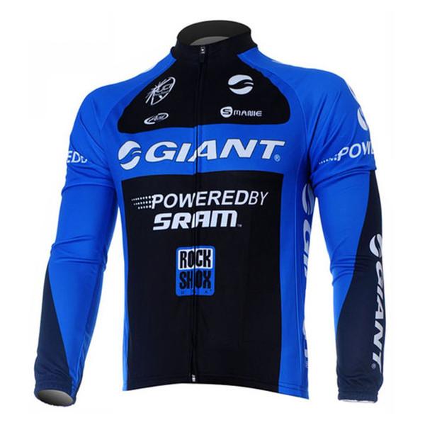 GIGANTE equipe Ciclismo jersey de manga longa MTB bicicleta tops camisa de corrida Respirável mens clothing ropa ciclismo Q60504