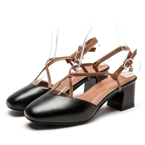 Sexy2019 Restore Ancient Ways Crossing Trip Bring Back Hollow Out Rome Shoe Baotou Sandals Joker Occupation Coarse With Shoes G118