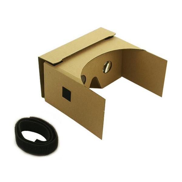 Gafas 3D VR simples montadas en la cabeza Gafas estilo carton para teléfono móvil de 4.7-6 pulgadas con lente de acrílico HD de 25MM 45g 155x85x150MM